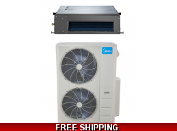 Midea 48000 Btu 17.4 Seer Slim Ducted Mini Split Heat Pump AC