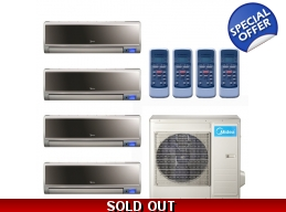 Midea 16 Seer 4x12000btu Vertu 4 Zone Mini Split..