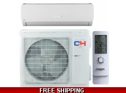 C&H 24000 Btu 21 Seer 220V Mini Split Heat Pump AC Karolina Series