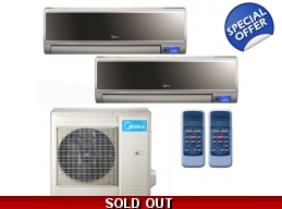 Midea 20 Seer 2x12000Btu Vertu 2 Zone Mini Split..
