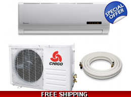Chigo 9000 Btu 16 Seer 110V Mini Split Heat Pump Air Conditioner
