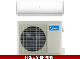 Midea 9000 Btu 24.4 SEER 110v Super Inverter Mini Split Heat Pump AC