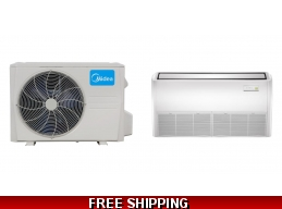 Midea 18000 BTU 19.9 SEER Floor/Ceiling Mini Split Hyper Heat Pump AC