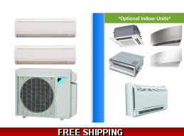 Daikin 2 Zone Mini Split Heat Pump AC Multi Zone System