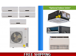 YMGI 5 Zone Mini Split Heat Pump AC Multi Zone System 16 SEER