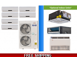 YMGI 6 Zone Mini Split Heat Pump AC Multi Zone System 16 SEER
