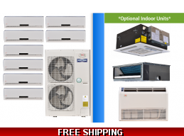 YMGI 8 Zone Mini Split Heat Pump AC Multi Zone System 16 SEER