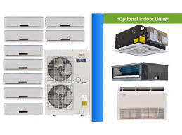 9 Zone Mini Split Heat Pumps | Ductless Air Conditioner Units