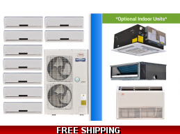 YMGI 9 Zone Mini Split Heat Pump AC Multi Zone System 16 SEER
