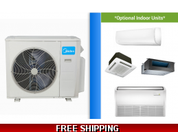 Midea Custom Built Multi 2-5 Zone Ductless Mini Split Heat Pump System