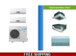 AirCon 2 Zone 18K Mini Split Heat Pump AC Ductless Cassette Ducted