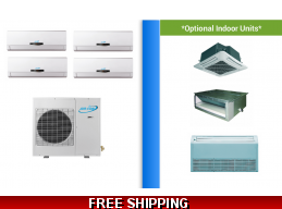 AirCon 4 Zone 30K Mini Split Heat Pump AC Ductless Cassette Ducted