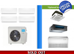 Midea 4 Zone 36K Mini Split Heat Pump AC up to 2..