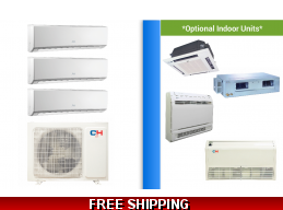 C&H 3 Zone 24K Mini Split Heat Pump AC Victoria Series up to 21 SEER