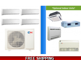 C&H 4 Zone 30K Mini Split Heat Pump AC Victoria Series up to 21 SEER