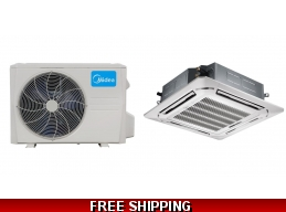 Midea 36000 Btu 17.5 Seer Ceiling Cassette Mini Split Heat Pump AC