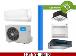Midea 12000 BTU Mini Split Hyper Heat Pump AC Ductless Cassette Ducted