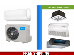 Midea 18000 BTU Mini Split Hyper Heat Pump AC Ductless Cassette Ducted