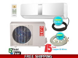 18000Btu 220v Mini Split Heat Pump AC 15 SEER Olmo Scandic Series