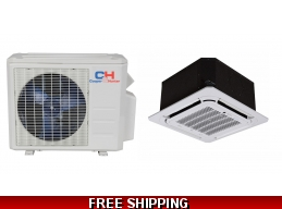 C&H 12000 BTU Cassette Mini Split Hyper Heat Pump AC Ductless Ducted