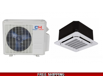 C&H 9000 BTU Cassette Mini Split Hyper Heat Pump AC Ductless Ducted