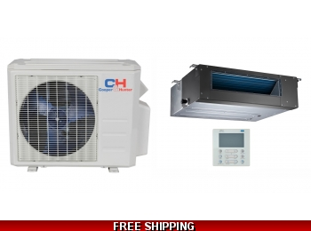 C&H 9000 BTU Ducted Mini Split Hyper Heat Pump AC Ductless Cassette