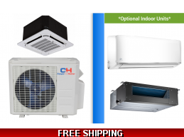 C&H 24000 BTU Cassette Mini Split Hyper Heat Pump AC Ductless Ducted