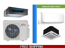 C&H 24000 BTU Ducted Mini Split Hyper Heat Pump AC Ductless Cassette