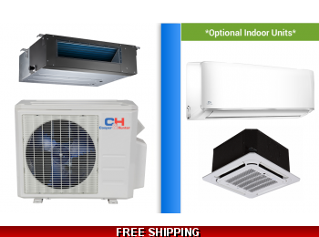 C&H 18000 BTU Ducted Mini Split Hyper Heat Pump AC Ductless Cassette