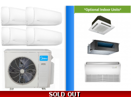 Midea 4 Zone 36K Mini Split Heat Pump AC Ductless Cassette Ducted
