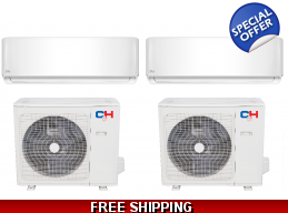 2x30000 Btu 18 SEER Mini Split Heat Pump AC by Cooper & Hunter