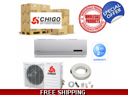 15 Chigo Mini Split Heat Pump Air Conditioner Systems Wholesale Lot