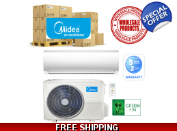 25 Midea Mini Split Heat Pump Air Conditioner Sy..