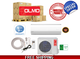15 Olmo Mini Split Heat Pump Air Conditioner Systems Wholesale Lot
