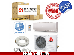 15 Chigo Mini Split Heat Pump Air Conditioner Sy..