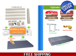 Bundle Deal- Line Cover+Plastic Pad+R410a Adapter+Wall & Drain Kit