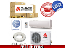 15 Chigo Ductless Heat Pump AC Systems Wholesale Lot