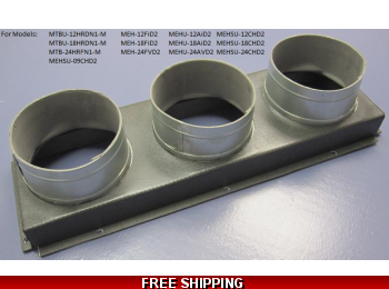 Front Board Duct Adapter / Supply Plenum