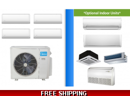Midea 4 Zone Mini Split Heat Pump Ductless Cassette Ducted by Carrier