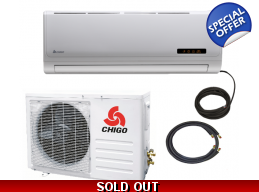 Chigo 18000 Btu 16 Seer Mini Split Heat Pump Air..