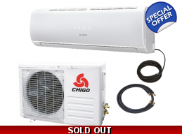 Chigo 12000 Btu 20 Seer 110V Mini Split Heat Pump Air Conditioner