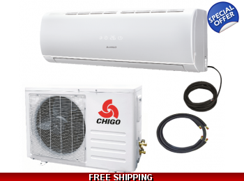 Chigo 21000 Btu 19 Seer Mini Split Heat Pump Air Conditioner