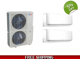 C&H 2×24000btu Mini Split Heat Pump AC Ductless ..