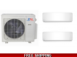 C&H 2x18000btu Mini Split Heat Pump Cassette Ducted Options