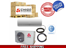 15 Chigo Ductless Heat Pump AC Systems Wholesale..