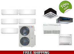 C&H 5 Zone 21.5 SEER Ductless Mini Split Heat Pu..
