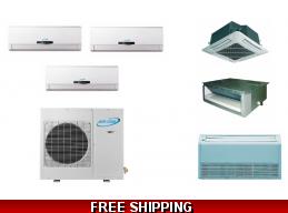 3 Zone Mini Split Heat Pumps | Ductless Air Conditioner Units