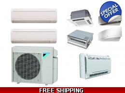 Daikin 2 Zone Ductless Mini Split Heat Pump Air Conditioner