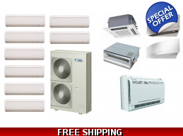 Daikin 8 Zone 48K Mini Split Heat Pump AC Ductless Cassette Ducted