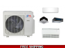 C&H Custom Multi Zone Ductless Heat Pump AC Console Cassette Ducted